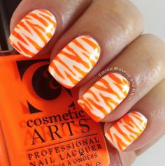 Fierce Makeup and Nails: 31 Day Challenge: Day 2- Orange Nails #31DC2013