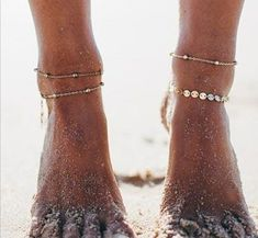Fußkettchen Set Simple Fusskette Sommer Trend Blogger  | eBay