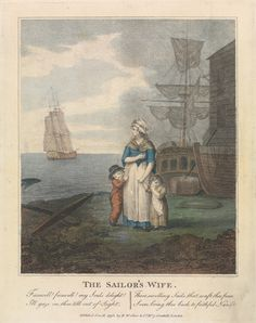 William S. Leney, 1769-1831, The Sailor's Wife, 1793, Colored stipple engraving, Yale Center for British Art, Paul Mellon Collection