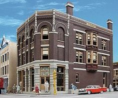 Walthers Argosy Booksellers - Kit - 4-3/4 x 8-1/2 x 7-1/4 HO Scale Model Railroad Building #3466