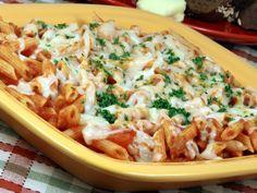 A 5-star recipe for Sbarro Baked Ziti made with ziti, ricotta cheese, Romano cheese, tomato sauce, pepper, mozzarella