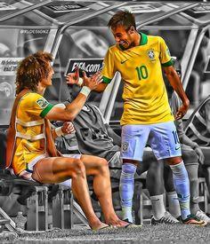 David luiz  Neymar
