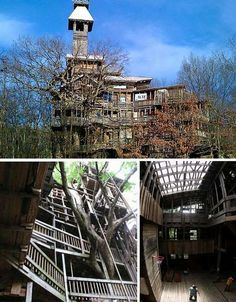I seen this on a tv show. Its the BIGGEST tresshouse. gotta visit colossal tree house