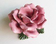Rosas Capodimonte, flores Capodimonte, sostenedor de vela de la rosa, sostenedor de vela de la flor, sostenedor de vela, rosas de porcelana, porcelana,