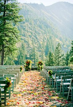 Having a fall wedding? Sprinkle your aisle with leaves! | Brides.com