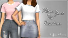 "faerietalesims: "" Plain Jane Tee Recolour yyeee another recolour for ma bois! ur welcome! - 20 swatches in my unnamed and unofficial colour palette - custom thumbnail - requires mesh by @dazzled-simblr ♥ - standard tou; don't reupload, claim as your..."