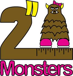 """Logo for the first batch of 2"""" Monsters! This one features Big Foots."""