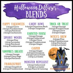 Create a spooky atmosphere for your Halloween parties with these fun essential oil diffuser blends! I Stopped Buying Scented Products. Fall Essential Oils, Essential Oil Diffuser Blends, Essential Oil Uses, Essential Oil Combinations, Young Living, Diffuser Recipes, Halloween Parties, Diffusers, Natural Living