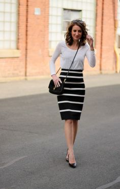 Breton striped skirt.