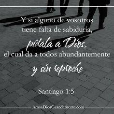 Devocional  Tienes falta de sabiduría? cuando carecemos de ella en nuestras vidas nos lleva a cometer muchos errores y a actuar en independencia de Dios, nos hacemos mujeres más imprudentes, sin sazonar o medir nuestras acciones o palabras y nos equivocamos. La sabiduría es de Dios!!! Y todo lo que viene de él es bueno, su consejo, su instrucción, su guía, entonces si hay que pedir algo, eso es SABIDURÍA!! #Consejeroadmirable #AmaaDiosGrandemente #NombresdeDios #ADG #LGG…