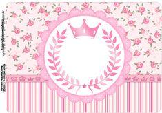 Uau! Veja o que temos para Rótulo Marmita Pequena Coroa de Princesa Rosa Floral