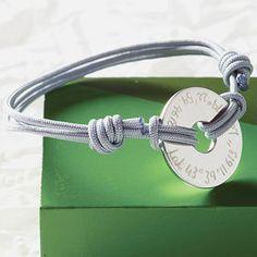Personalised Coordinate Open Disc Bracelet