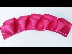 Flor Encanto By Sandra Monteiro - Youtub - Diy Crafts Hand Embroidery Flower Designs, Basic Embroidery Stitches, Ribbon Embroidery, Diy Ribbon Flowers, Ribbon Crafts, Fabric Flowers, Ribbon Hair Bows, Ribbon Work, Fabric Ribbon