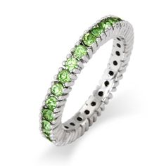 august birthstone | Sterling Silver Jewelry - Peridot August Birthstone Stackable Ring