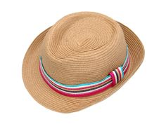 Straw Hat Light Brown with Color Stripe Color Stripes, Panama Hat, Brown, Hats, How To Wear, Shopping, Fashion, Moda, Hat