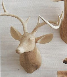 Roost Carved Wood Deer Head, Facing Right #modish #bestsellers