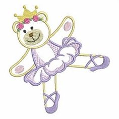 Ballerina Bears 10 - 4x4 | Ballet-Dance | Machine Embroidery Designs | SWAKembroidery.com Ace Points Embroidery