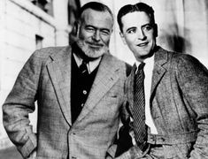 Ernest Hemingway and Francis Scott Fitzgerald /// This is a wonderful mashup that might lead someone to think they're in the same pic, when instead it's two pics taken about 30 years apart. AC