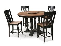 Intercon Furniture Gramercy Park Round With Lazy Susan Dining Table In  Brushed Bourbon