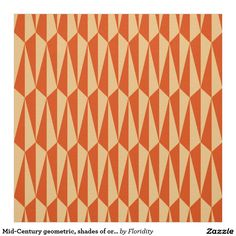 Mid Century Geometric, Shades Of Orange Fabric