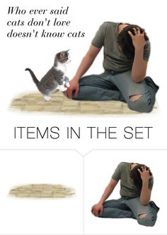 """""""Cats And Men"""" by sjlew ❤ liked on Polyvore featuring art"""