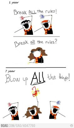 Blow up ALL the things! (Harry Potter + Hyperbole & a Half)