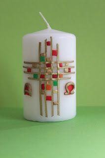 Rosis kreative Werke: Kerzen verzieren    BLOG pratico da VEDERE