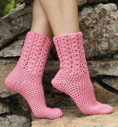 Maggie's Crochet · Learn to Crochet Socks for the family #crochet #pattern…