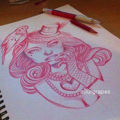 hopeless love girl tattoo @s0ur Grapes