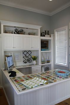 great office and sewing room tours with organization photos.