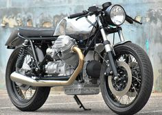 Moto Guzzi Cafe Racer Build – Short and Flat by Hartmut Taborsky HTmoto