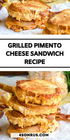 Homemade pimento cheese is so easy to whip together, it makes enjoying an ooey, gooey grilled pimento cheese sandwich a breeze. Lunch or dinner time, when the craving hits- a good grilled cheese always hits the spot. Skip the traditional sliced cheese and spring for a savory pimento cheese filling instead to really take your grilled cheese to the next level. #sandwich #grilledcheese #recipe