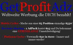 GetProfitAdz ist eine Werbeportal wo man für jedes Werbepaket lebenslang eine Rückvergütung verhält, das ist mein Testbericht. http://profi-marketing-software.de/getprofitadz/testbericht/