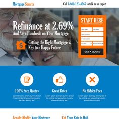 save money on mortgage consultant converting landing page design at a very reasonable and affordable price from buy landing page design Got Quotes, Free Quotes, Real Estate Website Design, Mortgage Companies, Landing Page Design, Online Advertising, Website Template, Lorem Ipsum, Sample Resume