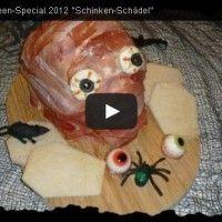 Halloween Rezept Video Tutorial: Schinken-Schädel