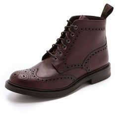 $455, Loake 1880 Bedale Heavy Brogue Boots. Sold by East Dane. Click for more info: https://lookastic.com/men/shop_items/342600/redirect