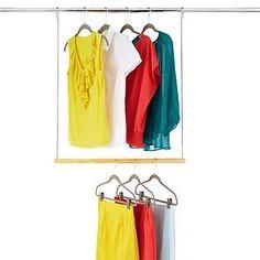 Amazing DIY Double Closet Hanging Rod | Double Closet, Organizations And Closet Rod