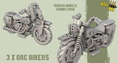 Orc Bikes #models for our TheGreenAlliance #miniatures army project