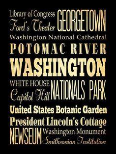 Washington,District of Columbia,Typography Art Poster