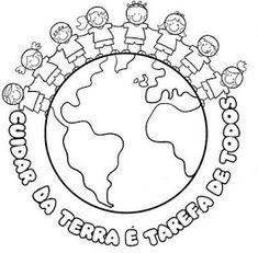 Pedagógiccos: Dia do Meio Ambiente - atividades Eco Kids, Earth Day Crafts, Bullet Journal Notes, School Worksheets, Sistema Solar, School Projects, Art School, Coloring Pages, Clip Art