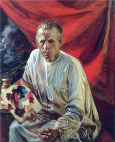 Otto Dix (German 1891–1969) [German Expressionism, Neue Sachlichkeit] Self-portrait. [Verism]