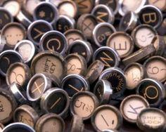 typewriter keys...