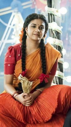 Mana Keerthy Suresh: Keerthy Suresh in Half Saree with Cute and Awesome Lovely Chubby Cheeks Expressions Indian Actress Gallery, Tamil Actress Photos, Indian Bridal Fashion, Most Beautiful Indian Actress, Film Awards, Half Saree, Indian Celebrities, India Beauty, Indian Outfits