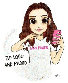 """A Strong Woman is Inspiration! """"My mom always says, 'be loud and proud! A drawing of the POWERFUL She inspired me always! Bff Drawings, Kawaii Drawings, Disney Drawings, Cartoon Girl Drawing, Girl Cartoon, Arte Disney, Disney Art, Chibi Kawaii, Girly M"""