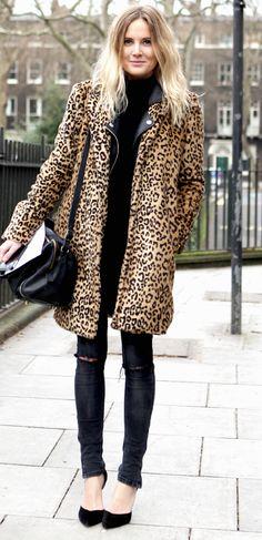 Statement coat on black