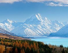 """Someday, we will travel to New Zealand and see the 'Misty Mountains' in Aoraki/Mount Cook National Park. We have wanted to go since watching the first """"Lord of the Rings"""" movie! Where Is New Zealand, Visit New Zealand, New Zealand Travel, Oh The Places You'll Go, Places To Travel, Places To Visit, Auckland, Vanuatu, New Zealand Houses"""