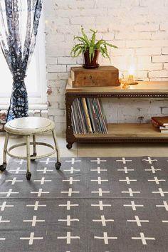 Teppich mit Pluszeichen, 5 x 7 Fuß