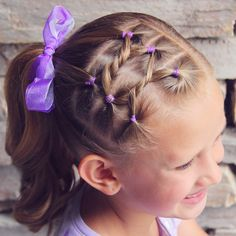 Hair Knots into a Side Ponytail