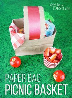 DIY Paper Bag Picnic Baskets – great for a playground party! DIY Paper Bag Picnic Baskets – great for a playground party! Picnic Party Favors, Picnic Themed Parties, Dinner Parties, Picnic Basket Crafts, Picnic Baskets, Picnic Theme Crafts, Kids Picnic, Picnic Ideas, Beach Picnic