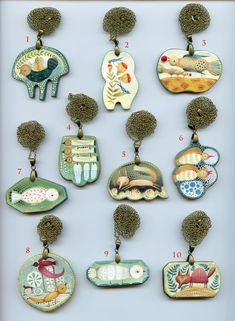 Paperclay necklaces by Elsa Mora collection 2 Paper clay pendants by Elsa Mora Ceramic Jewelry, Enamel Jewelry, Clay Jewelry, Jewelry Art, Jewelry Design, Gothic Jewelry, Paper Clay, Unique Necklaces, Statement Necklaces